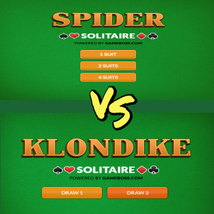 kolndike solitaire vs Spider solitaire